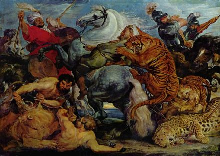 Rubens, Peter Paul: Tiger, Lion and Leopard Hunt. Fine Art Print/Poster. Sizes: A1/A2/A3/A4 (001566)